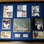 Custom Framed Hank Aaron Collection Sports Memorabilia