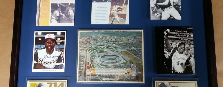 Framed Sports Memorabilia of the Day – Hank Aaron