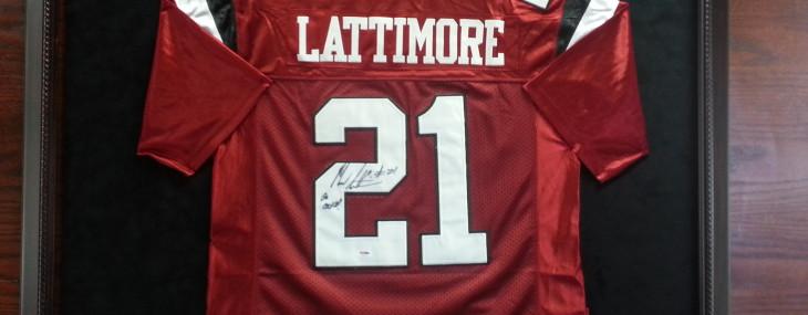 Custom Framed Marcus Lattimore Gamecock Football Jersey!