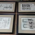 old-engravings-framed-four
