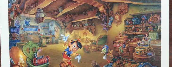 """Signed and Numbered Print of the Day!  Tom DuBois' """"Pinocchio's Magical Adventure"""""""