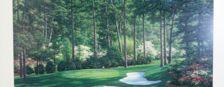 Signed and Numbered Print of the Day!  The Tenth at Augusta by Larry Dyke