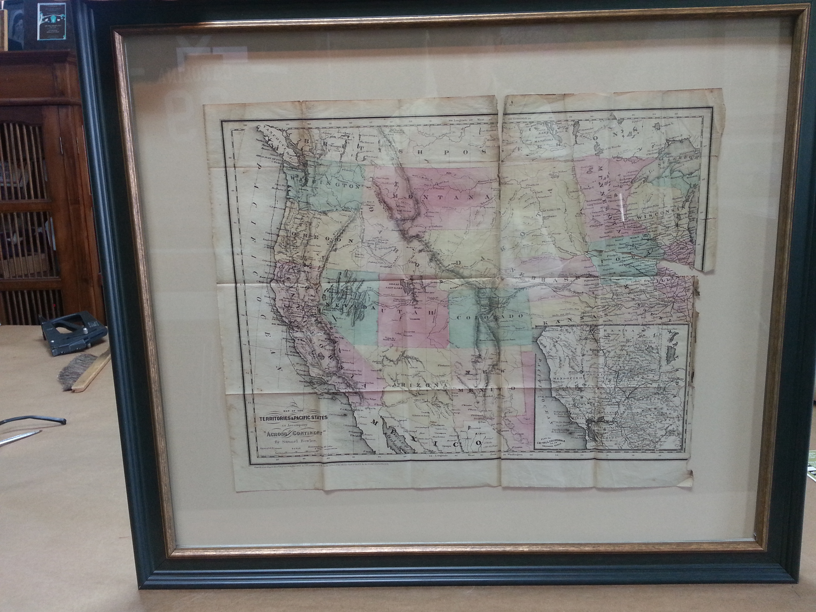 nw map framed