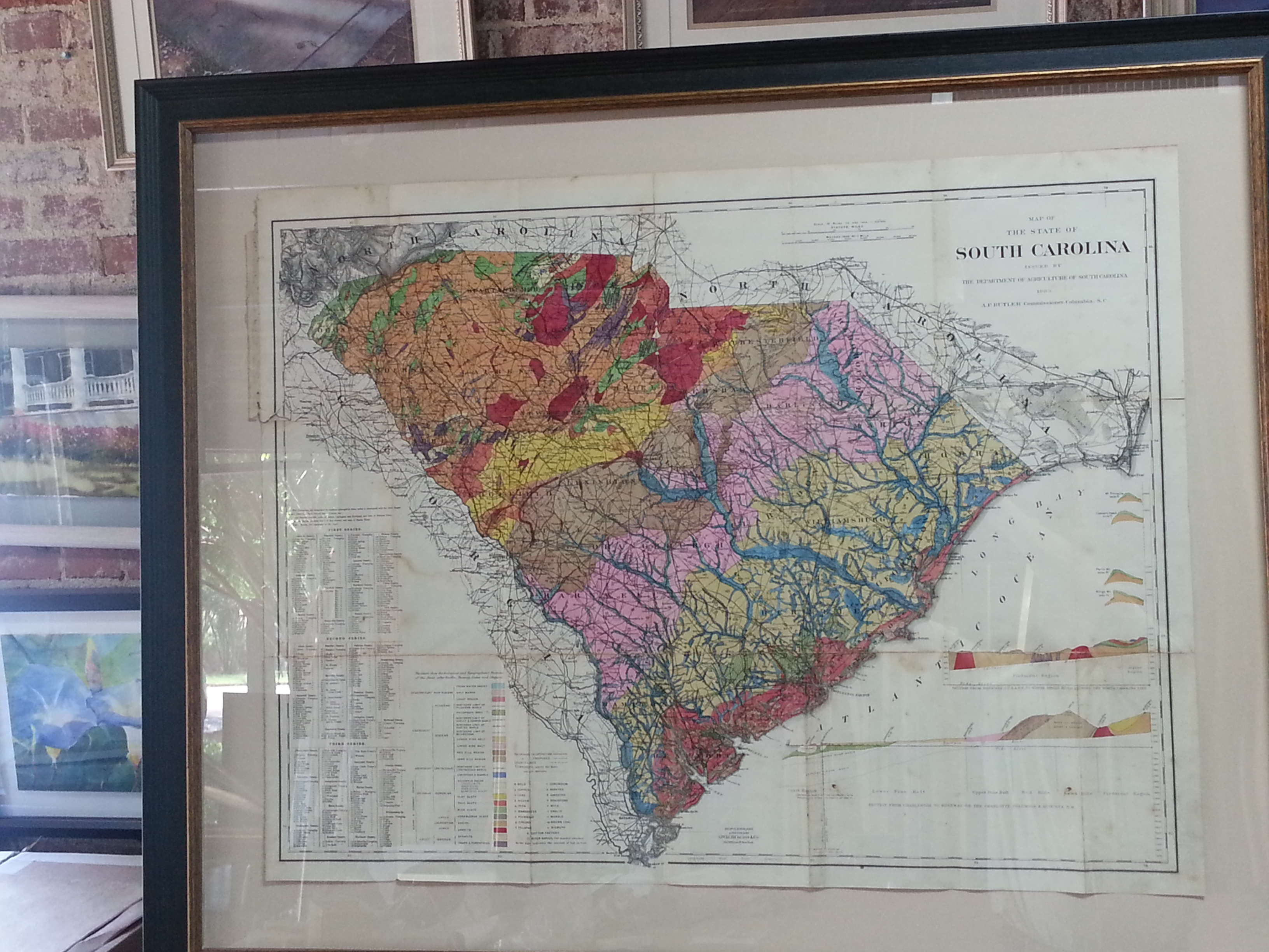 Antique Maps Columbia Frame Shop - Frames for old maps