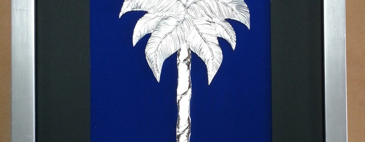 Framed Art of the Day! Embossed Palmetto by Lynne Currin