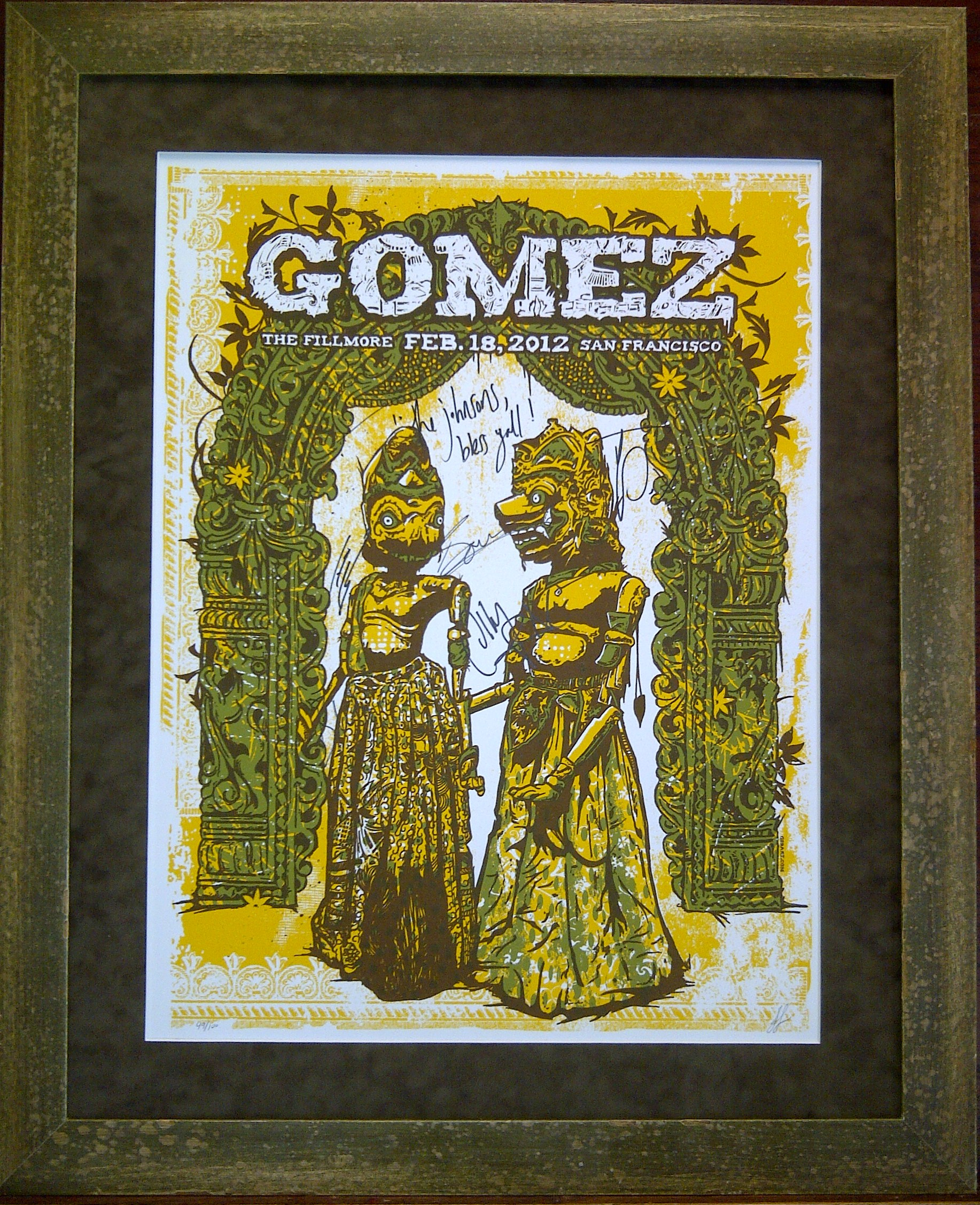 Framed Concert Poster of the Day! Gomez at The Fillmore – Columbia ...