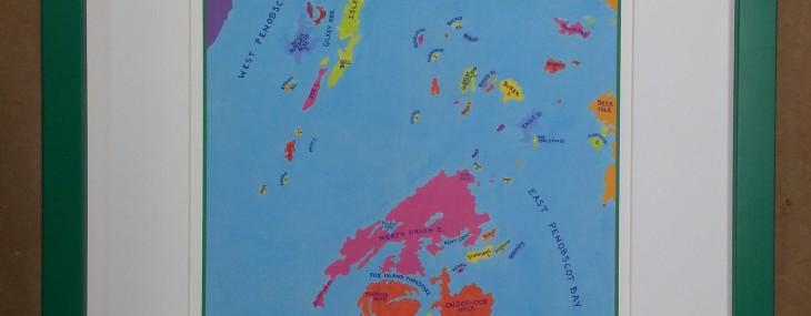 Penobscot Bay!  Framed Art for the Kid's Room