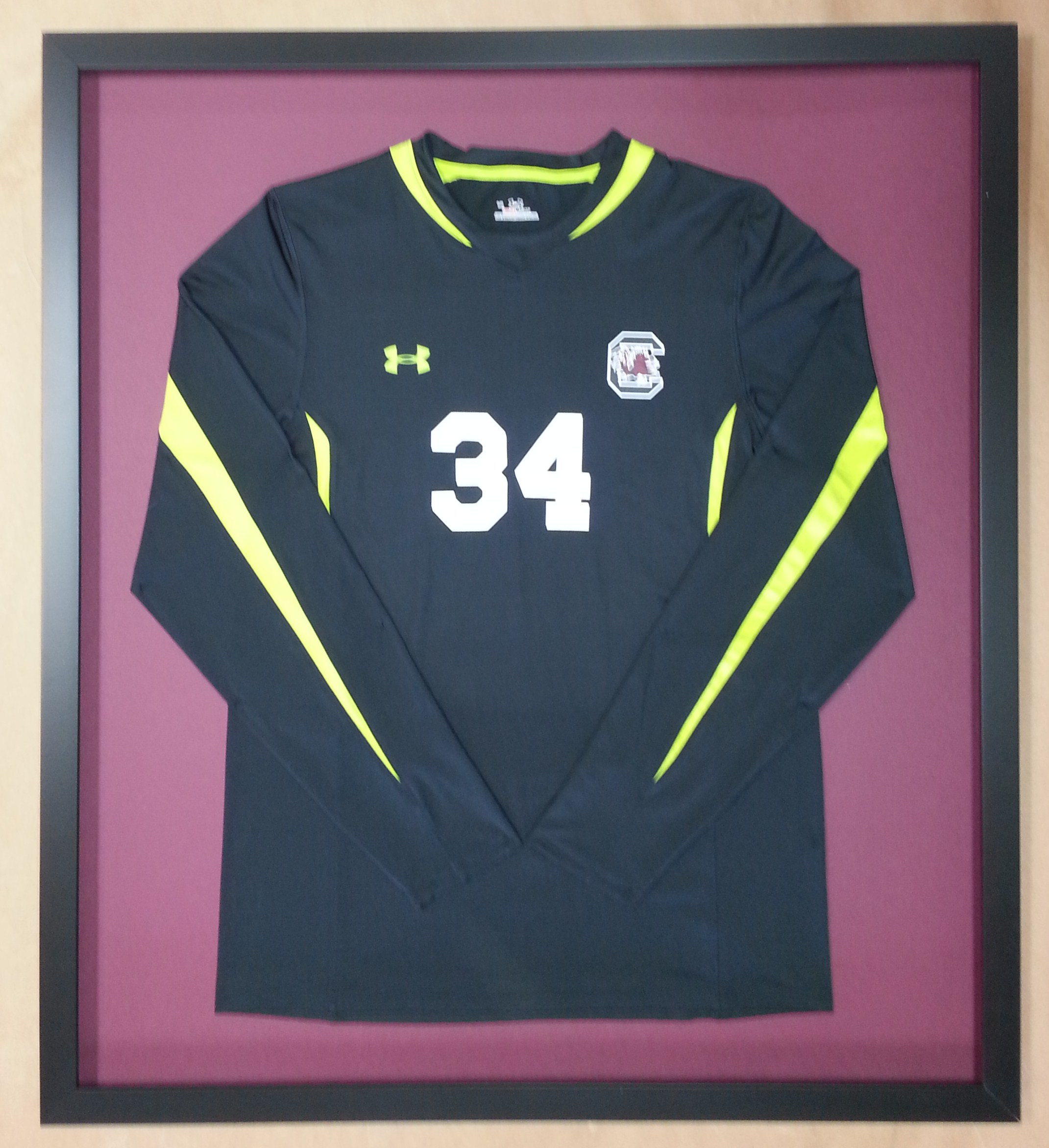 Framed soccer jersey page 2 columbia frame shop love us some gamecocks jeuxipadfo Gallery