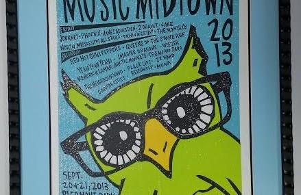 Framed Concert Poster! Music Midtown 2013