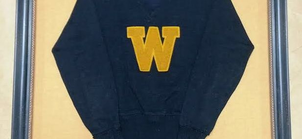 Framed 1940s Wofford College Letterman's Sweater!