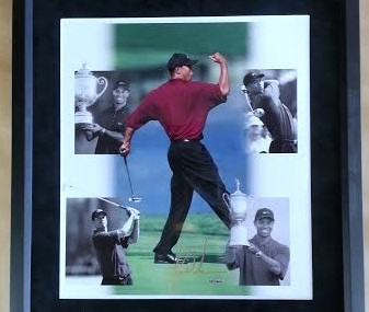 Signed Tiger Woods Photo Collage