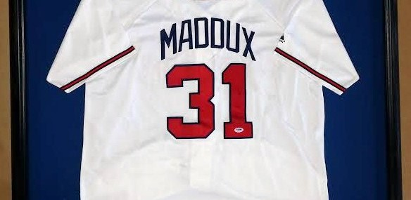 Framed Greg Maddux Signed Jersey!