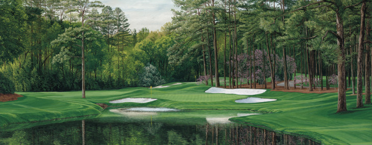 "Linda Hartough ""The 16th Hole, Redbud, Augusta"""