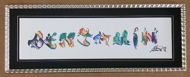 Framed Child's Name Art!