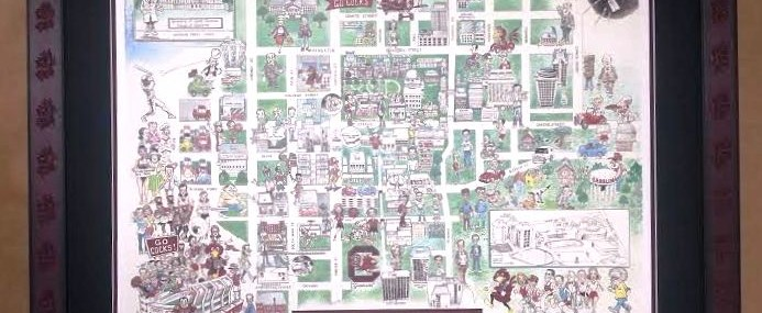 Old USC Caricature Map!