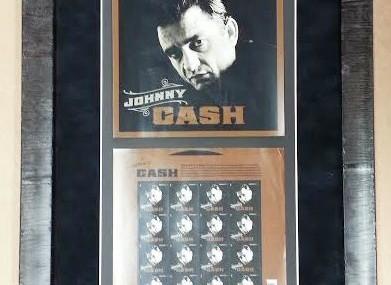 Framed Johnny Cash Stamps!
