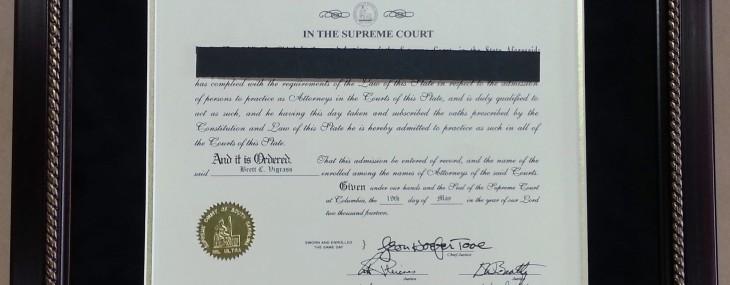 SC Bar Certificate