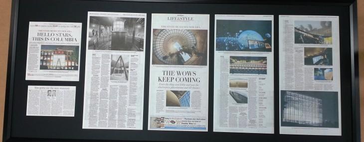 Large Newspaper Framed!
