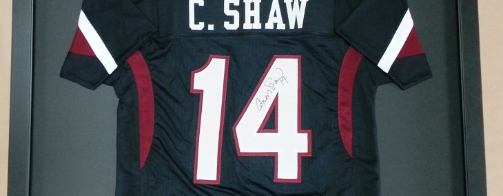 Framed Connor Shaw Jersey!