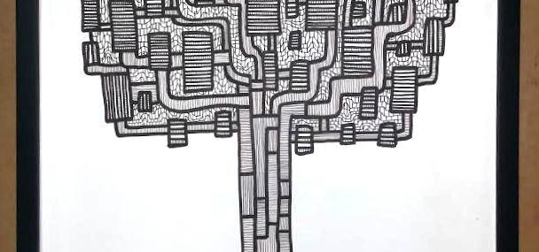 Wonderful Hand Drawn Geometric Palmettos by Neill Bultman!