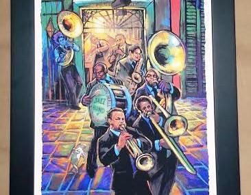 Fabulous Framed Mardi Gras Poster!