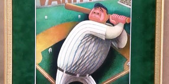 Wonderful Vanity Fair Babe Ruth Cover Repro!