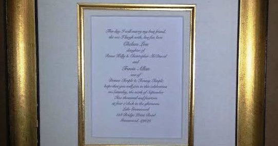 Framed Wedding Invitation!