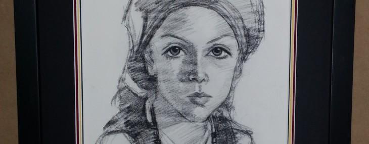 Framed Charcoal Portrait!