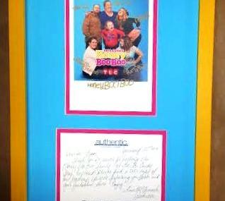 "Framed Thank You Letter From ""Celebrity"""
