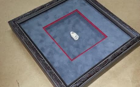 Framed Civil War Bullet from Gettysburg!