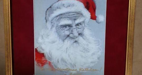 Framed Santas!