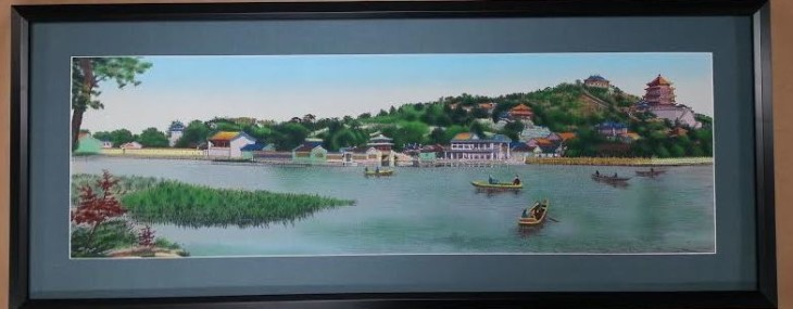 Wonderful Chinese Silk Embroidered Landscape!