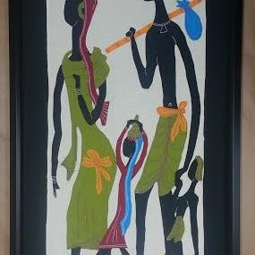 Large Philippine Embroidered Art!