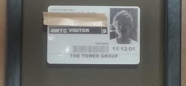 Framed WTC Name Tag, Eerie