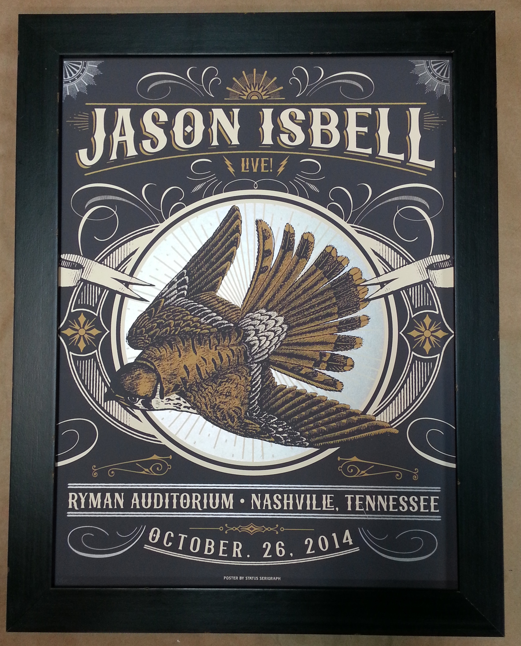 Framed Jason Isbell Poster! – Columbia Frame Shop