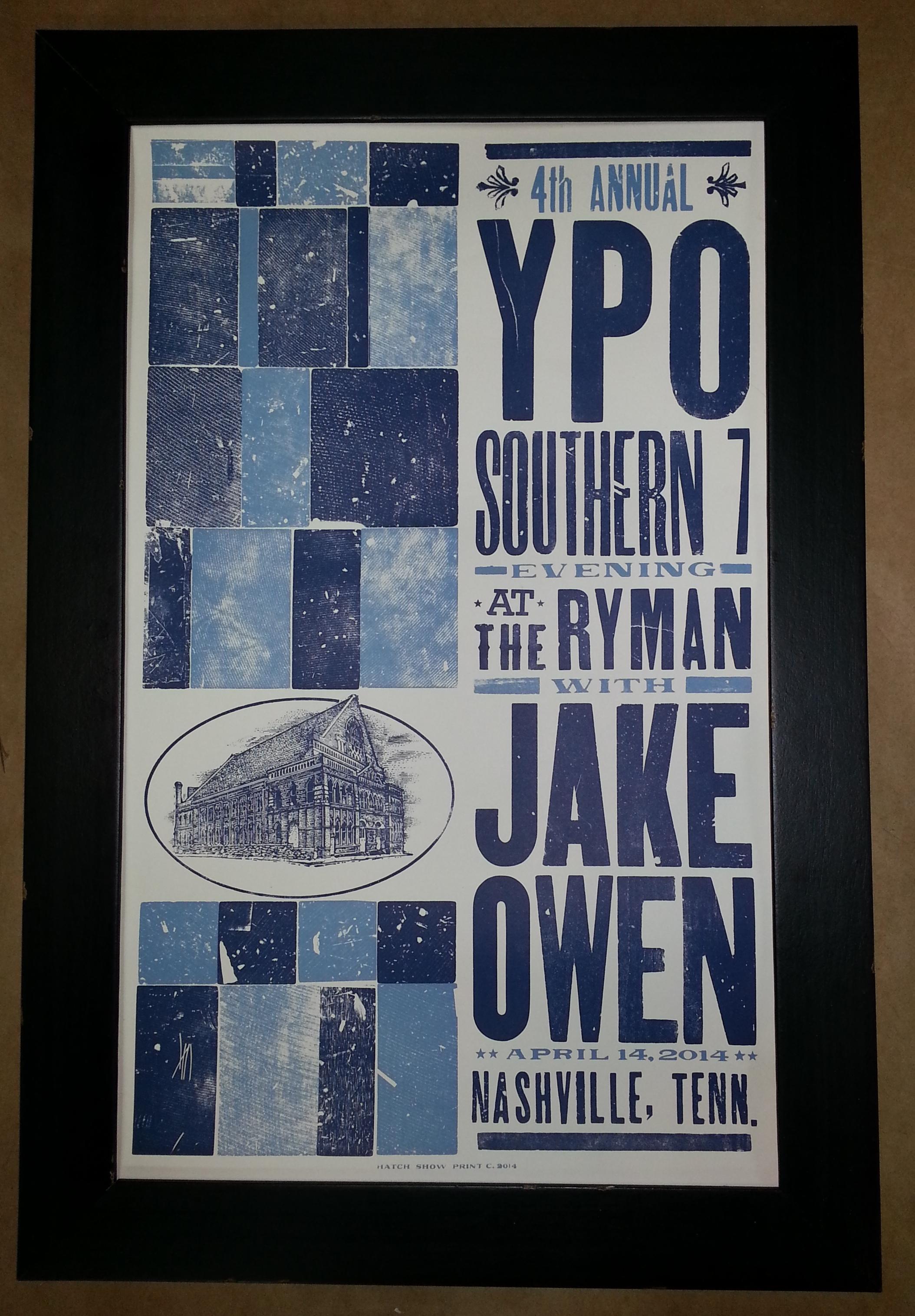 Frame Jake Owen Concert Poster! – Columbia Frame Shop