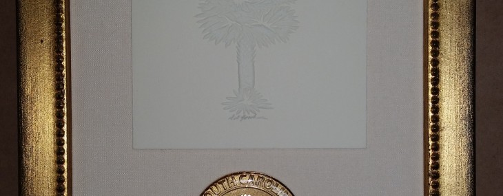Framed Coin and Embossed Palmetto!