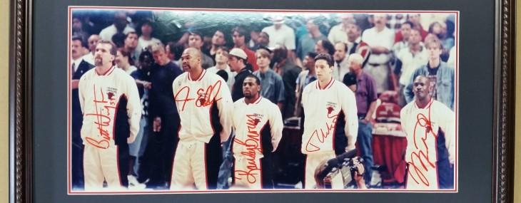 Autographed Chicago Bulls Photograph!