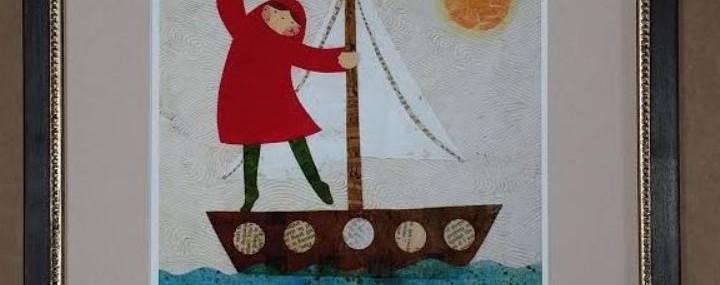Lovely Little Sailboat Print!  Lovely Frame