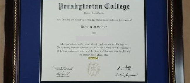 Presbyterian College Diploma!