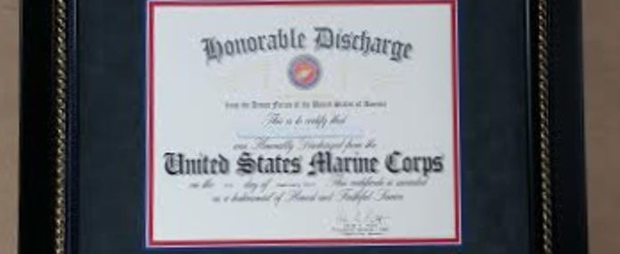 Framed Honorable Discharge Certificate! Made in the USA!