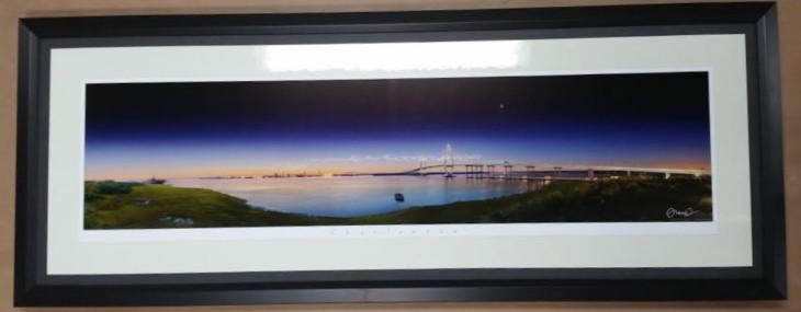 Framed Ravenel Bridge Photograph!