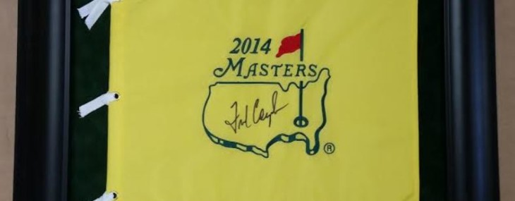 Framed Fred Couples Autographed Masters Flag!