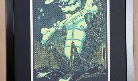 Framed Skrillex Poster!