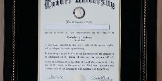 Framed Lander Diploma!