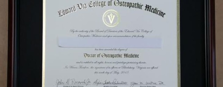 Framed Edward Via College Diploma!