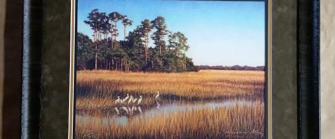 "Framed ""Egret Gathering"" Print by Michael Story!"