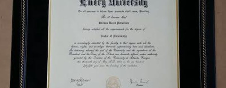 Emory Diploma Framed! Made in the USA