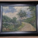 framed antique oil