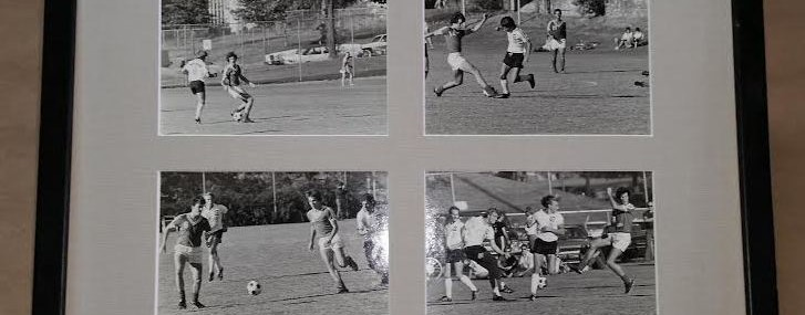 Framed Antique (Sorry Geordie, I Just Had To) Soccer Photos!